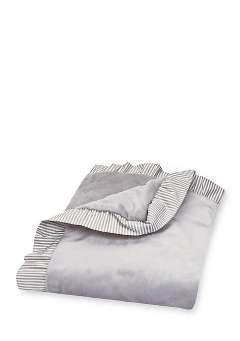 Ruffle Stripe Trimmed Receiving Blanket