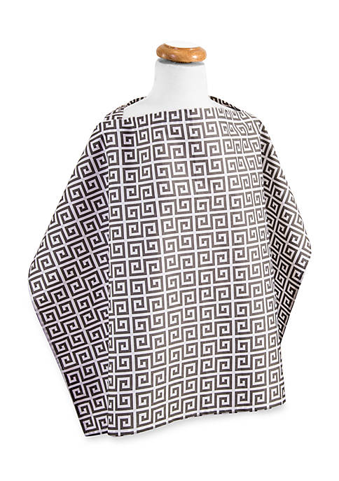 Trend Lab® Gray Greek Key Nursing Cover