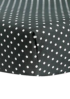 Polka-Dot Fitted Crib Sheet