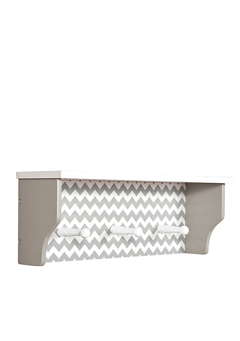 Trend Lab® Dove Gray Chevron Shelf with Pegs