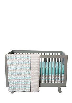 Zigzag 3-Piece Crib Bedding Set