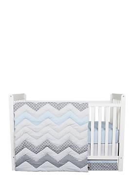 Chevron 3-Piece Crib Bedding Set