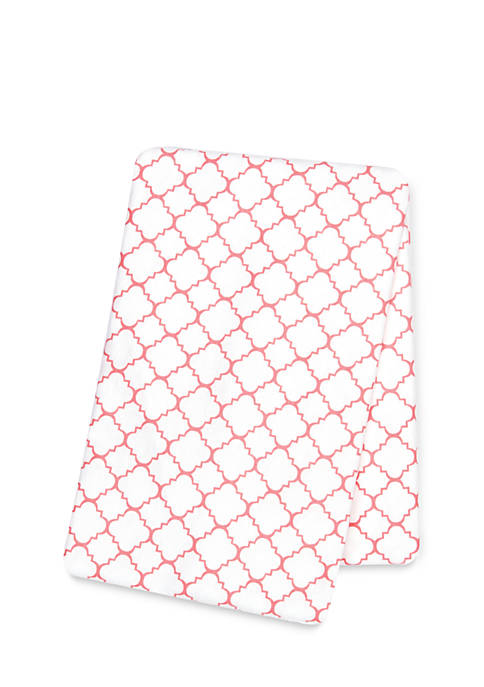 Trend Lab® Quatrefoil Deluxe Flannel Swaddle Blanket