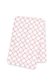 Quatrefoil Deluxe Flannel Swaddle Blanket