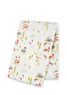 Winter Woods Deluxe Flannel Swaddle Blanket