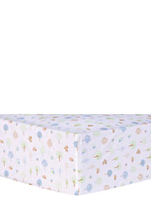 Forest Tales Animals Fitted Crib Sheet