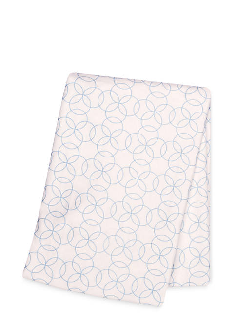 Circles Deluxe Flannel Swaddle Blanket