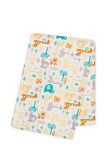 Crayon Jungle Deluxe Flannel Swaddle Blanket