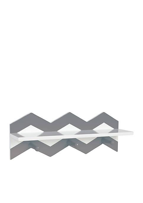 Trend Lab® Gray Chevron Wall Shelf