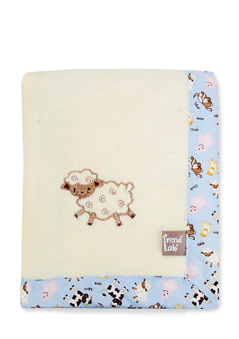 Trend Lab® Baby Barnyard Framed Receiving Blanket