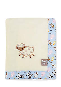 Baby Barnyard Framed Receiving Blanket - Online Only