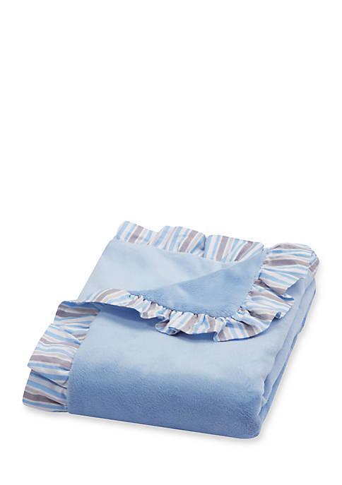 Trend Lab® Ruffle Stripe Trimmed Receiving Blanket