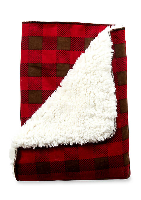 Trend Lab® Northwoods Plush Receiving Blanket