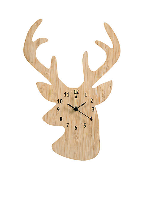 Trend Lab® Bamboo Stag Head Wall Clock