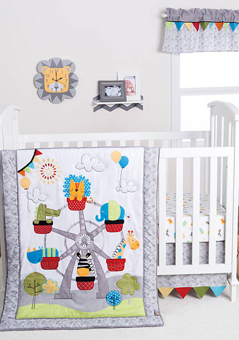 Trend Lab® Jungle Ferris Wheel Three-Piece Crib Bedding
