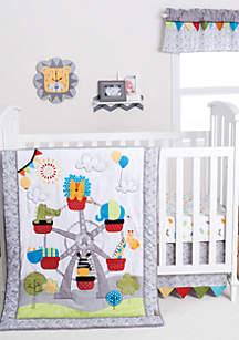 Jungle Ferris Wheel Three-Piece Crib Bedding Set