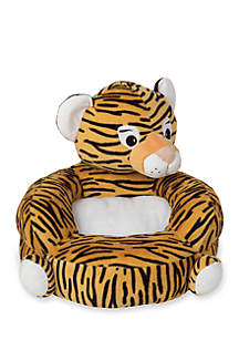 Children's Plush Tiger Character Chair