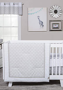 Art Deco 3-Piece Crib Bedding Set