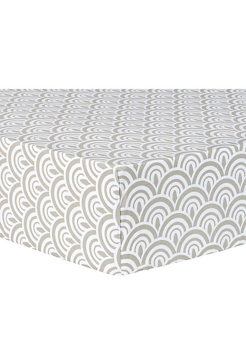 Trend Lab® Art Deco Scallop Fitted Crib Sheet