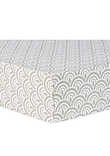 Art Deco Scallop Fitted Crib Sheet