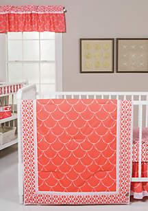 Shell 3 Piece Crib Bedding Set