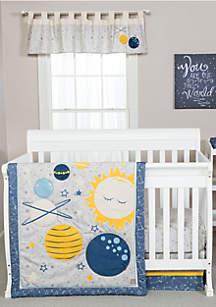 Galaxy 3 Piece Crib Bedding Set