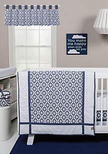 Hexagon 3 Piece Crib Bedding Set
