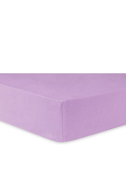 Lilac Flannel Fitted Crib Sheet