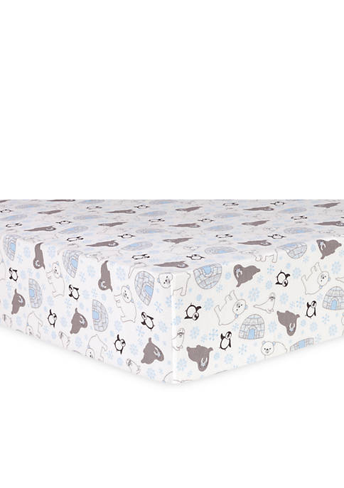 Trend Lab® Igloo Friends Flannel Fitted Crib Sheet