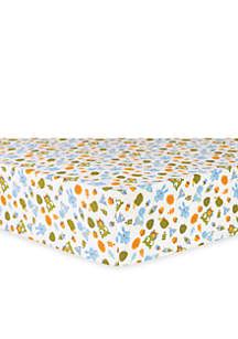 Animal Tepee Flannel Fitted Crib Sheet