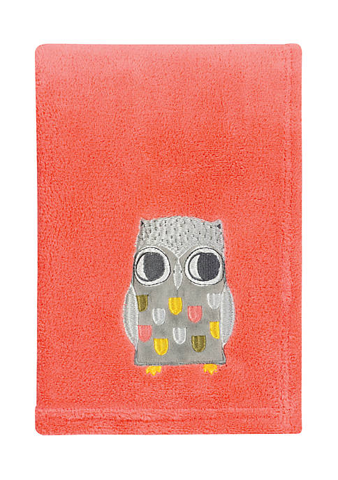 Trend Lab® Olive Owl Plush Baby Blanket