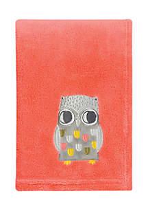 Olive Owl Plush Baby Blanket