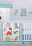 Dinosaur Roar Three-Piece Crib Bedding Set