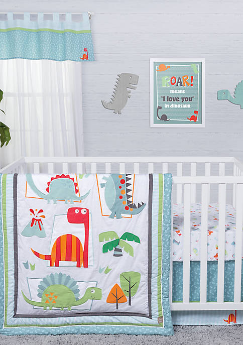 Trend Lab® Dinosaur Roar Three-Piece Crib Bedding Set