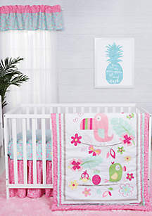 Tropical Tweets Three-Piece Crib Bedding Set