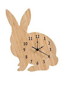 Bamboo Bunny Wall Clock