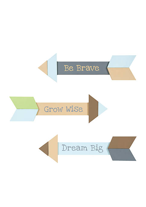 Trend Lab® Arrows 3 Pack Wood Décor