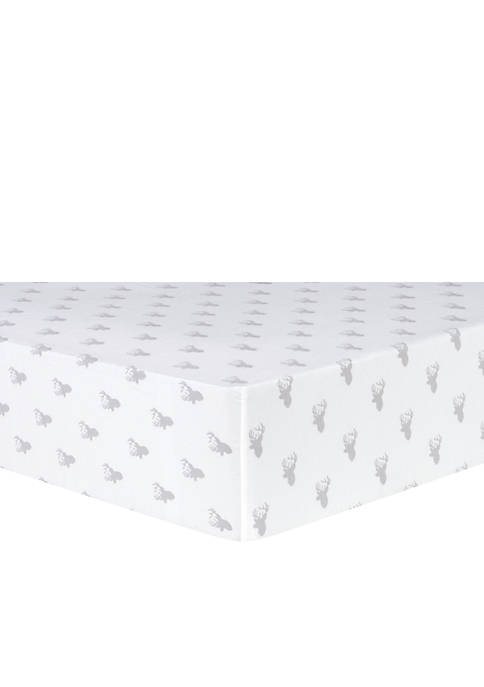 Trend Lab® Gray Stag Silhouettes Flannel Fitted Crib