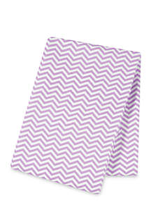 Lilac Chevron Flannel Swaddle Blanket