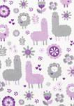 Llama Friends Flannel Swaddle Blanket