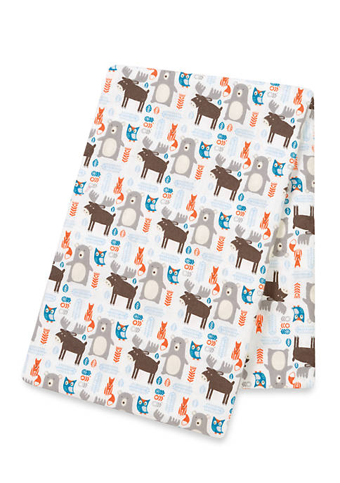 Trend Lab® Scandi Forest Flannel Swaddle Blanket