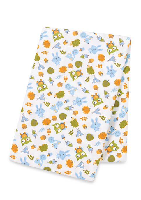 Trend Lab® Animal Tepee Flannel Swaddle Blanket