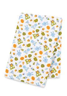 Animal Tepee Flannel Swaddle Blanket