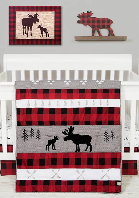 Trend Lab® Baby Lumberjack Moose 3 Piece Crib