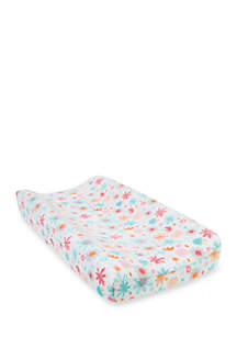 Trend Lab® Coral Floral Plush Changing Pad Cover