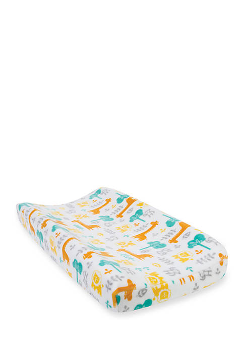 Trend Lab® Lullaby Jungle Plush Changing Pad Cover