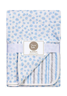Trend Lab® Trend Lab Blue and Gray Cloud Knit Blanket