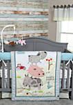 Farm Stack 4-Piece Crib Bedding Set