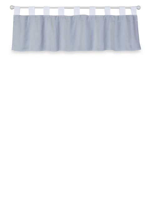 Trend Lab® Gray Washed Velvet Window Valance