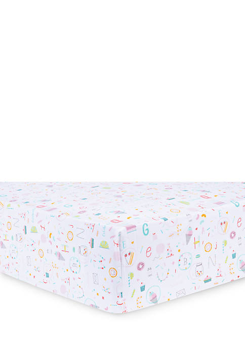 Trend Lab® Alphabet Cake Fitted Crib Sheet